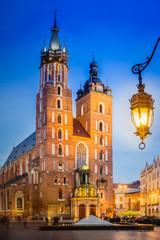 Poster Cracovie Krakau Rynek Glowny - Marienkirche
