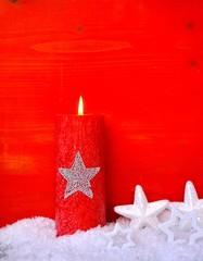 Kerze und Sterne