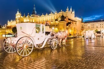 Autocollant pour porte Cracovie Krakau Rynek Glowny -Tuchhallen