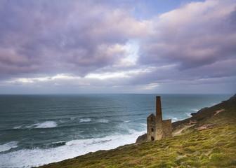 Fototapete - Wheal Coates tin mine Cornwall