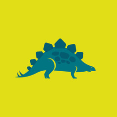 Stegosaurus blue icon and picture
