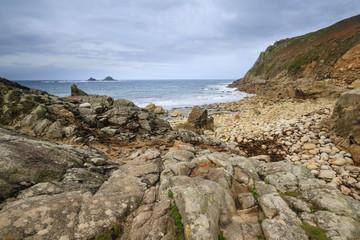 Fototapete - Porth Nanven Cove Cornwall UK
