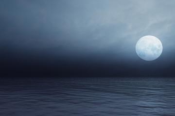 Sea at night