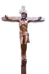 Jesus Crucifix isolated on white