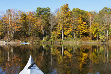Kayaking in Autumn