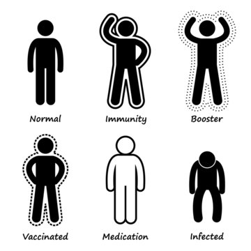 Human Health Immune System Strong Antibody Cliparts