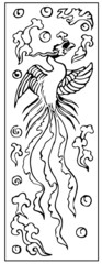 Ancient Chinese Phoenix pattern