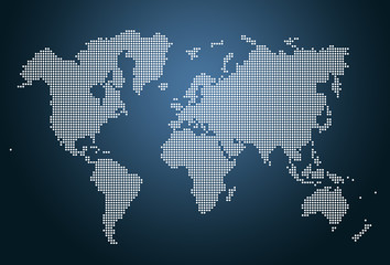 Modern Design World Map. Image of modern optimally dotted world map illustration Search photos