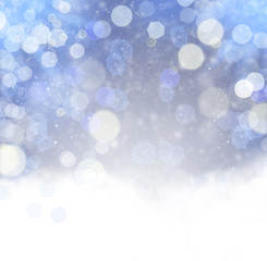 Abstract christmas backdrop with snowflakes