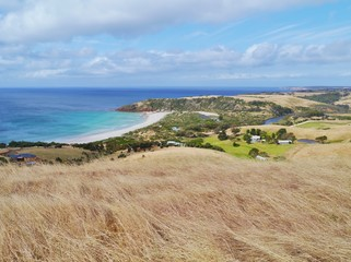 A view of Snelling beach on Kangaroo island in Australia