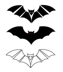 Bats silhouettes