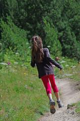 enfant en randonnée - oisans