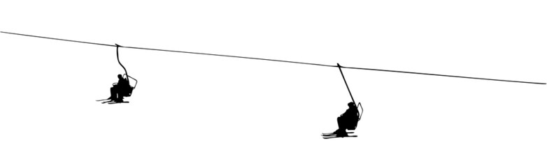 silhouette of a ski lift