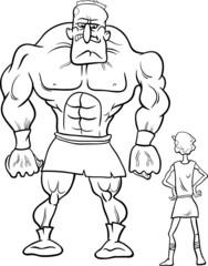 david and goliath cartoon coloring book