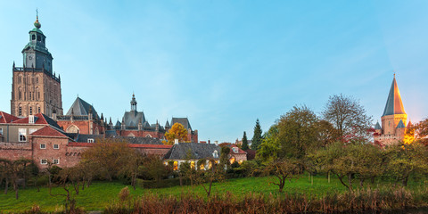 Panoramic view of the Dutch medieval city of Zutphen