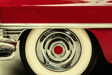 Retro styled image of a vintage American car