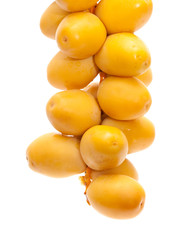 fresh date fruit isolated on white