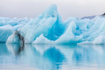 Detail view of iceberg in ice lagoon - Jokulsarlon, Iceland.