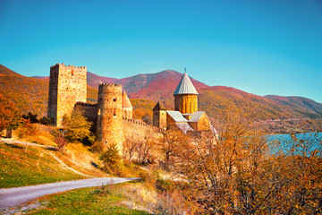 Wall Mural - Ancient Fortress Ananuri in Georgia country, Europe