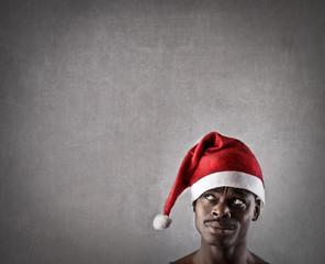 Santa Claus thinking of something