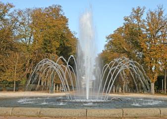 fontaine dans un parc