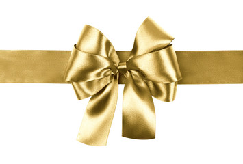 golden bow photo made from silk