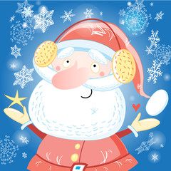 Funny portrait of Santa Claus
