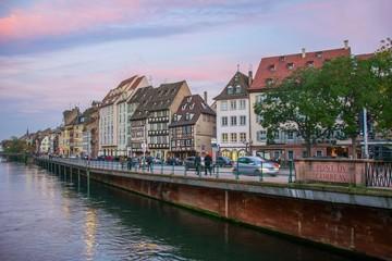 La Petite France à Strasbourg au coucher de soleil