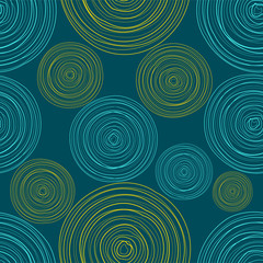 Blue Colored Circles Seamless Pattern