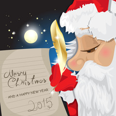 Merry Christmas Lettering, Santa Claus Writing Text Message