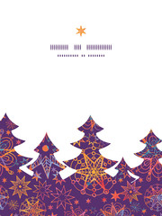 Vector textured christmas stars Christmas tree silhouette