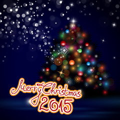 Abstract Christmas Tree Background - Vector Illustration