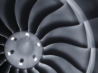 Stong Graphic Business Jet Aircraft Engine Background Image