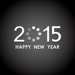 happy new year 2015 with loading icon pattern background