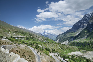 scenic view of mountain valley