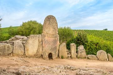 Coddu Vecchiu - Giants grave near the nuraghe Prisgiona Wall mural