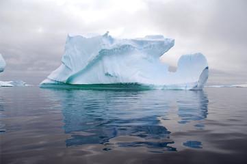 Wall Mural - huge iceberg reflected in the ocean