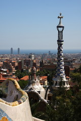 Barcelona ,panoramic view from park Guell