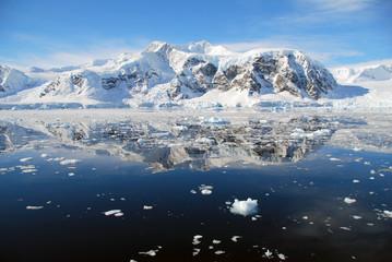 Fototapete - ice floes in antarctic ocean