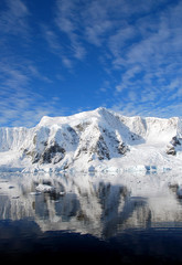 Fototapete - dramatic skies over antarctica