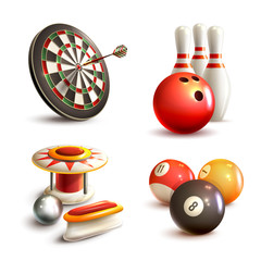 Fototapete - Game icons set