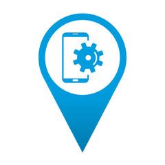 Icono localizacion smartphone configuracion