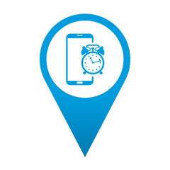 Icono localizacion smartphone despertador