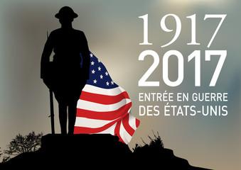 CENTENAIRE 14-18 Entree en guerre des USA