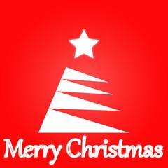 merry-christmas-tree--white-star--background
