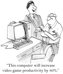 """""""...computer will increase video game productivity 80%."""""""