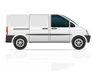 van for the carriage of cargo vector illustration