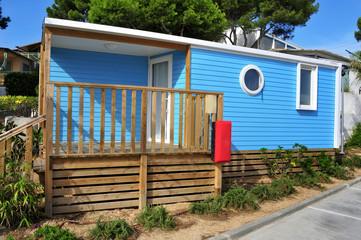 mobile home in a campsite