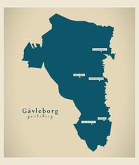 Modern Map - Gävleborg SE