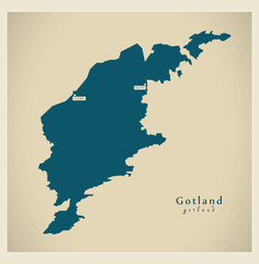 Modern Map - Gotland SE